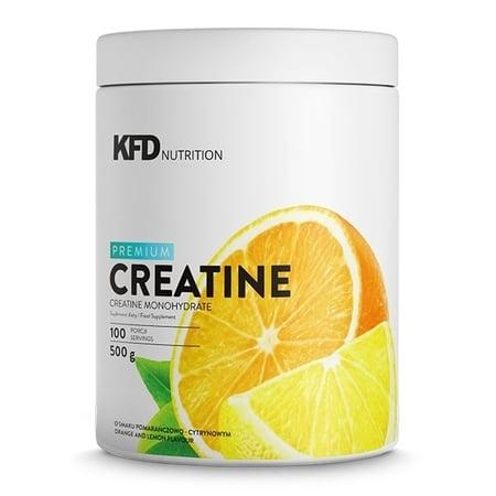 KFD, Premium Creatine, smak pomarańczowo-cytrynowy, 500g
